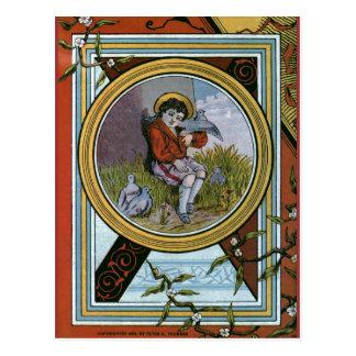 """Kleine Playfellows-"" Vintager Bucheinband Postkarte"