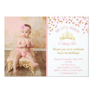 Kleine Prinzessin Birthday Invitation- Pink und Karte