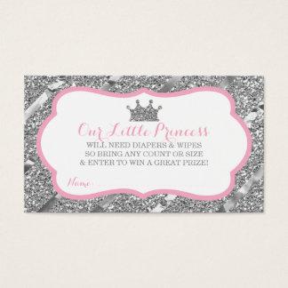 Kleine Prinzessin Diaper Raffle Ticket, Visitenkarte