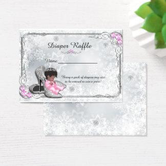Kleine Prinzessin Diaper Raffle Tickets, Grau Visitenkarte