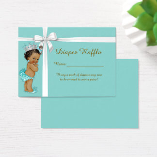 Kleine Prinzessin Diaper Raffle Tickets, Visitenkarte