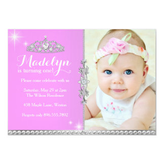 Kleine Prinzessin First Birthday Invitation 12,7 X 17,8 Cm Einladungskarte