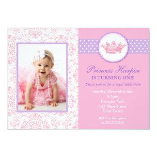 Kleine Prinzessin Foto Birthday Invitations 12,7 X 17,8 Cm Einladungskarte