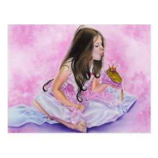 Kleine Prinzessin Kissing Frog Postcard Postkarte