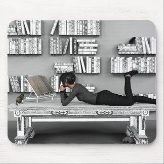 Kleine rat de Bibliothèque (Bücherwurm) Mauspads