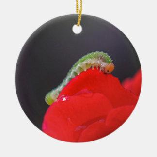 Kleine Raupe Rundes Keramik Ornament