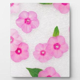 kleine rosa Blumen Fotoplatte