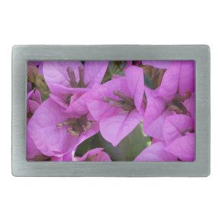 kleine rosa Blumen Rechteckige Gürtelschnallen