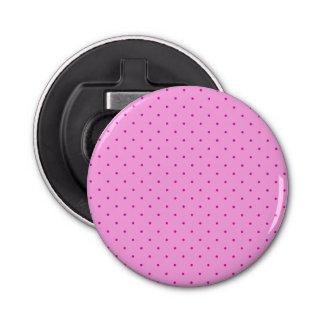 Kleine rosa Tupfen auf hellerem Rosa Flaschenöffner