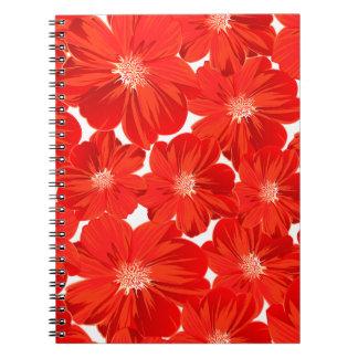 Kleine rote Blumen Notizblock