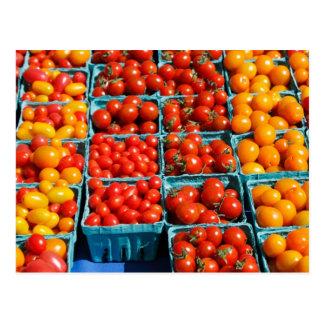 Kleine rote und orange Tomaten Postkarten