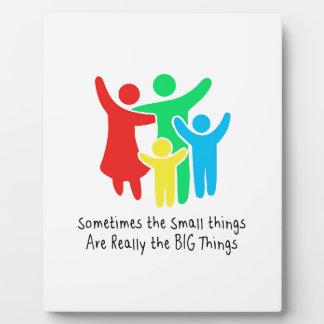 Kleine Sachen sind wirklich die großen Sachen Fotoplatte
