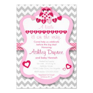 Kleine Schatz-Eulen-Mädchen-Babyparty-Einladung 12,7 X 17,8 Cm Einladungskarte