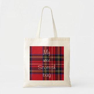 Kleine schottische Taschen-Tasche Budget Stoffbeutel
