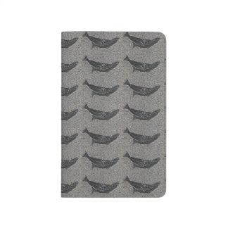 Kleine schwarze Fische Taschennotizbuch