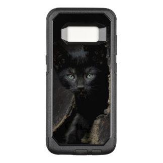 Kleine schwarze Miezekatze OtterBox Commuter Samsung Galaxy S8 Hülle