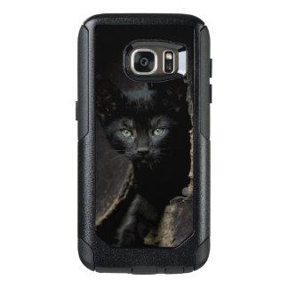 Kleine schwarze Miezekatze OtterBox Samsung Galaxy S7 Hülle