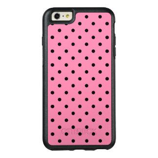 Kleine schwarze Tupfen auf Pink OtterBox iPhone 6/6s Plus Hülle