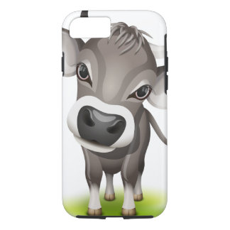 Kleine Schweizer Kuh iPhone 8/7 Hülle