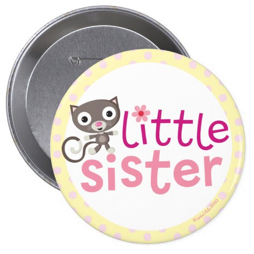 kleine Schwester-Abzeichen/Knopf Button
