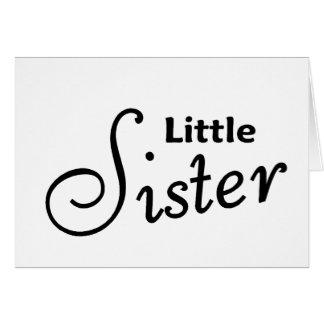 Kleine Schwester Grußkarte