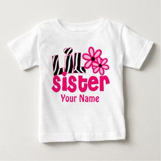 Kleine Schwester-Rosazebra-personalisiertes Shirt