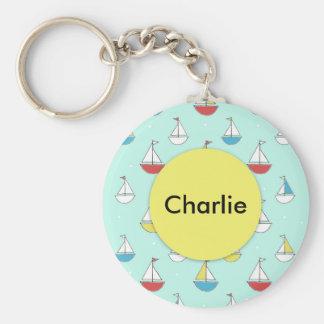 Kleine Segelboote Schlüsselanhänger