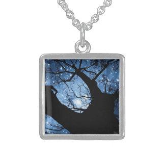 Kleine Sterlingsilber-Quadrat-Halskette Sterling Silberkette