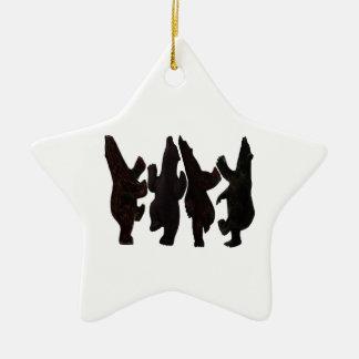 Kleine Tänzer Keramik Ornament