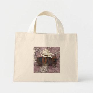 kleine Taschentasche des Amor-Liebewortes Mini Stoffbeutel