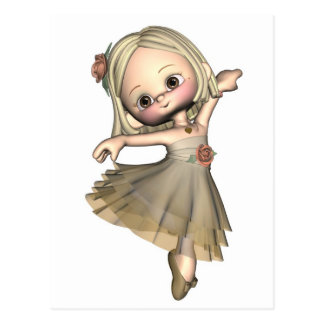 Kleine Toon-Ballerina Postkarte