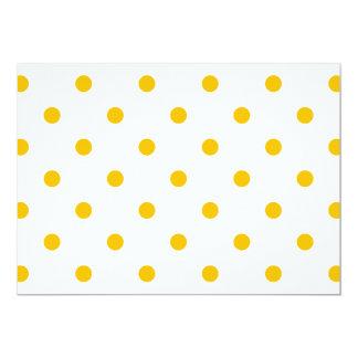 Kleine Tupfen - Bernstein auf Weiß 12,7 X 17,8 Cm Einladungskarte