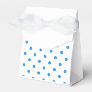 Kleine Tupfen - Dodger-Blau auf Weiß Geschenkschachtel