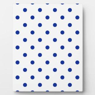 Kleine Tupfen - Kaiserblau auf Weiß Fotoplatte