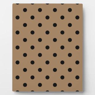 Kleine Tupfen - Schwarzes auf blassem Brown Fotoplatte