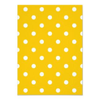 Kleine Tupfen - Weiß auf Bernstein 11,4 X 15,9 Cm Einladungskarte