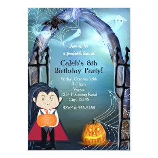 Kleine Vampire-Dracula-Halloween-Party-Einladungen Karte