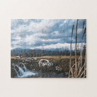 Kleine Wasserfälle und Eilen zackig Puzzle