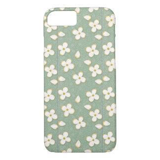 Kleine weiße Blumen iPhone 8/7 Hülle