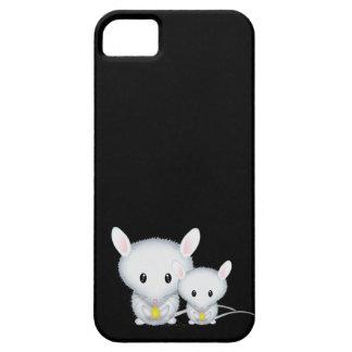 Kleine weiße Mäuseniedliche Nagetiere iPhone 5 Hüllen