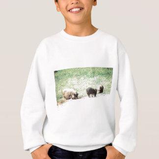 Kleine wilde Schwein-Skizze Sweatshirt