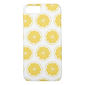 Kleine Zitrone schneidet grafisches Muster iPhone 8/7 Hülle