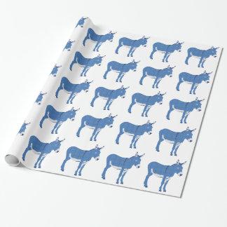 Kleinen Eddie-Esels nicht wirklich blau Geschenkpapier