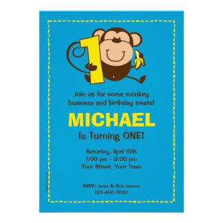 Kleiner Affe-1 Personalisierte Ankündigungskarte