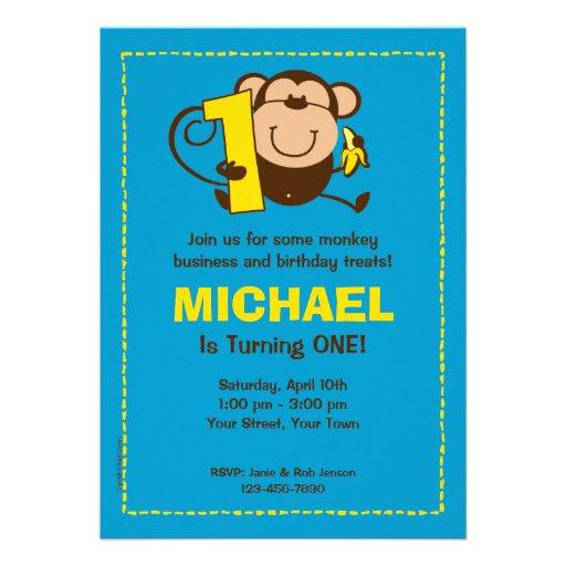 Kleiner Affe-1. Personalisierte Ankündigungskarte