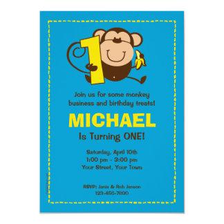 Kleiner Affe-1. 12,7 X 17,8 Cm Einladungskarte