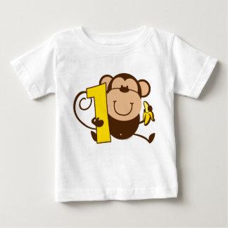 Kleiner Affe-1. Geburtstag Mero Baby T-shirt