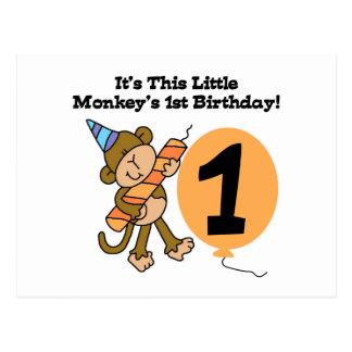 Kleiner Affe-1. Geburtstags-T-Shirts und Geschenke Postkarte