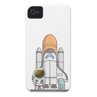 Kleiner Astronaut u. Raumschiff iPhone 4 Case-Mate Hüllen