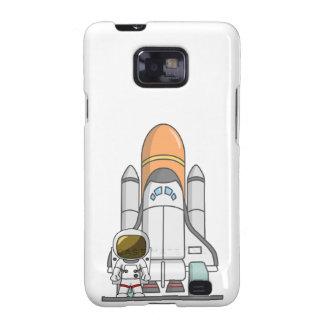 Kleiner Astronaut u. Raumschiff Samsung Galaxy SII Hüllen